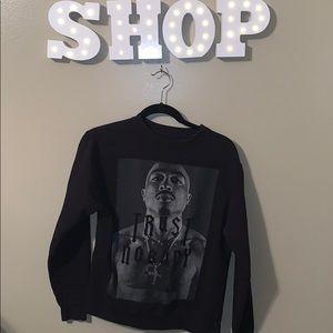 Tupac crew neck sweater